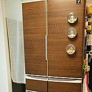100均/セリア/インテリアシート/冷蔵庫/Kitchen…などのインテリア実例