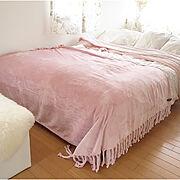 ピンクインテリア/ピンク/フランフラン/お気に入り/Francfranc/ベッドルーム…などのインテリア実例