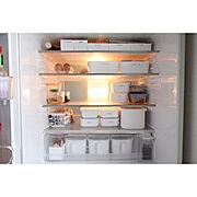 キッチン/暮らし/ig→yuuki.nys/スッキリ暮らす/冷蔵庫/冷蔵庫収納…などのインテリア実例