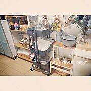 キッチンワゴン/IKEA/暮らしの愛用品/3001円〜5000円/Kitchen…などのインテリア実例