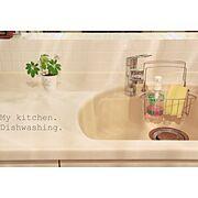 セリア/キッチン/YAMAHA/ミルクティー色/Kitchen…などのインテリア実例