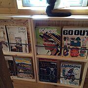 ネコ/BESSの家/コーナン/マガジンラック/DIY/My Shelf…などのインテリア実例