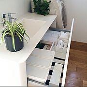 ダイソー/洗面所収納/整理収納部 /Bathroom…などのインテリア実例