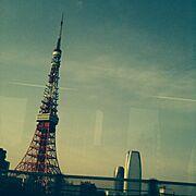 東京タワーがやっぱり良い/車窓から…などのインテリア実例