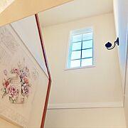 階段の窓のインテリア実例写真