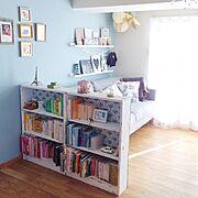 カラフル/本棚/DIY/IKEA/Overview…などのインテリア実例