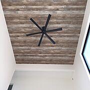 インダストリアル/アメリカンビンテージ/新築建築中/カリフォルニアスタイル/天井壁紙…などのインテリア実例