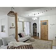 漆喰の壁/海外インテリアに憧れる/IKEA/セルフリノベーション/中古住宅/アラログ 照明…などのインテリア実例
