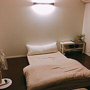 照明/すのこベッド/セミダブル/ナチュラル/一人暮らし/シンプル…などのインテリア実例