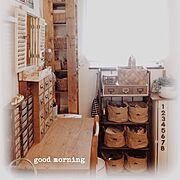 私の場所/作業机/収納/999円以下/暮らしの愛用品/セリア…などのインテリア実例