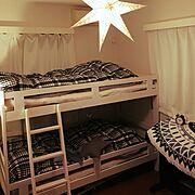 IKEA/ニトリ/二段ベッド/子供部屋/壁紙屋本舗/子供部屋作り…などのインテリア実例