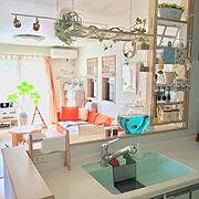DIY/ハンギング/カフェ風/フェイクグリーン/水槽/金魚鉢…などのインテリア実例