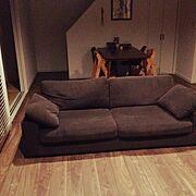 寝心地の良いソファのインテリア実例写真