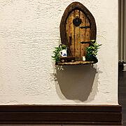 フェアリードア/10000人の暮らし/コンセントカバーDIY/Entrance…などのインテリア実例