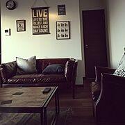 一人暮らし/アンティーク/Lounge…などのインテリア実例