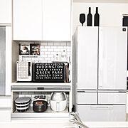 白黒インテリア/壁紙DIY/壁紙屋本舗/モノトーン/北欧/DIY…などのインテリア実例