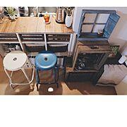 ドライフラワー/フェイクグリーン/アップルボックス/りんご箱/古材/木箱…などのインテリア実例
