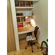 ナチュラル/DIY/IKEA/カラーボックス/北欧風?/プチ改造…などのインテリア実例