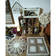 編み物/ダイソー毛糸/グリーンマット/セリア/10分でできる/My Desk…などに関連する他の写真
