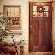 ヴィンテージメイドレイマンドドア/木製ドア/ウッドデポ/アンティークドア/クリスマス…などのインテリア実例