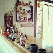 和食器/和の花/和/陶芸/My Shelf…などのインテリア実例