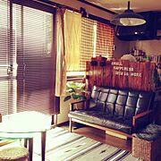 ブラインド/ウンベラータ♡/うんべちゃん/リビング・ダイニング取り替えっこ/Lounge…などのインテリア実例