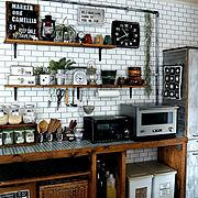 バルミューダのある暮らし/ブログよかったら見てみて下さい♩/IG⇨maca_home/オーブンレンジ…などのインテリア実例