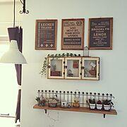 DIY/セリア/フェイクグリーン/手作り/編み物/イケア 照明…などのインテリア実例