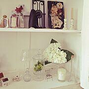 My Shelf/セリア好き/アンティーク/子供がいる家/大人フレンチ/フレンチナチュラル…などのインテリア実例