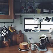 coffee time/おやつの時間/暮らしを楽しむ/kono式/北欧食器/おうちカフェ…などのインテリア実例