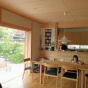 カウンターキッチン/ハリオ/食事/朝ごはん/ごはん/ルイスポールセン…などのインテリア実例