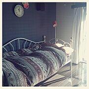 一人暮らし/照明/カーテン/ベッド/Bedroom…などのインテリア実例
