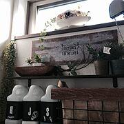 プリザーブドフラワー/生活感たっぷり( ;´Д`)/狭すぎる洗面所/フェイクグリーン…などのインテリア実例