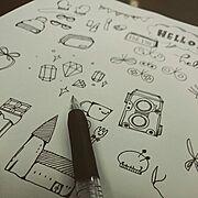 フレークシール/DIY/インスタ→nappa_works/ほぼ日/イラスト/My Desk…などのインテリア実例