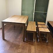 スイージー/ウッドワン/ダイニングテーブル/ベンチ/ナラ/160cm…などのインテリア実例