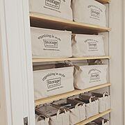 ストレージボックス/ダイソー/脱衣所/可動棚/Bathroom…などのインテリア実例