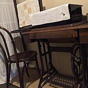 和室/足踏みミシン/ベントウッドチェア/Bedroom…などのインテリア実例