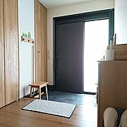 ポストカード/マリメッコ/掃除道具/吊り下げ収納/壁に付けられる家具/スツール…などのインテリア実例