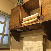 ヒオリエ/DIY/タオル収納/タオル/トゥシェ/Bathroom…などのインテリア実例