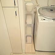 Bathroom/タオル収納/狭い洗面所/ポリプロピレンケース/隙間収納棚/洗面所…などのインテリア実例