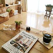 室内グリーン/カゴ/DIY/RoomClipStyle/My Desk…などのインテリア実例