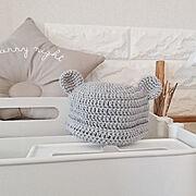 編み物のインテリア実例