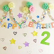 誕生日飾り付けのインテリア実例