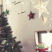 クリスマスツリー出しちゃったのインテリア実例