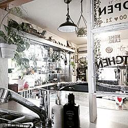 キッチン/カフェ風インテリア/海外インテリアに憧れる/植物のある暮らし/植物と雑貨で楽しむインテリア...などのインテリア実例 - 2020-05-02 17:34:56