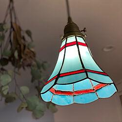 ステンドグラス/ペンダントライト/照明/リビングのインテリア実例 - 2021-07-09 17:54:41