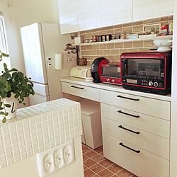 キッチン/ラジオ/冷蔵庫/ゴミ箱/ニッチ棚...などのインテリア実例 - 2017-10-25 14:18:46