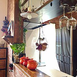 キッチン/吊り棚/スパイスミル/IKEA/ラタンチェスト...などのインテリア実例 - 2016-10-09 13:59:18
