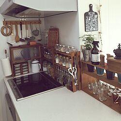 キッチン/カゴ/コーヒーミル/Bormioli Rocco/トスカーナマグカップ...などのインテリア実例 - 2016-04-12 06:52:25