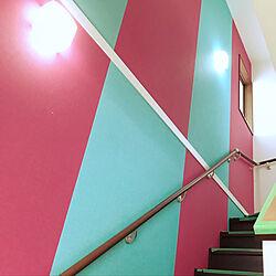 部屋全体/カラフル/階段/レトロ/階段の壁...などのインテリア実例 - 2018-02-02 23:45:36